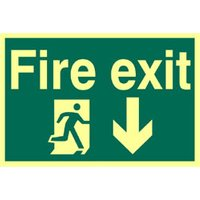 Fire Exit Down Glow In The Dark