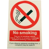 Window Cling No Smoking Vehicle Notice 100x150mm