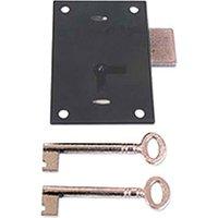 Black Straight Cabinet Lock 66mm