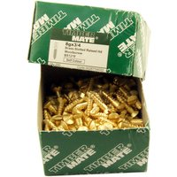 Brass Raised Woodscrews Box of 200