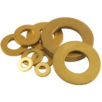 Pack of 10 Brass Self Colour Plain Washers