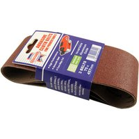 Pack of 3 Cloth Sanding Belts 457x75mm