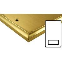Polished Brass Edwardian Style Electrical Dual Output Shaver Socket