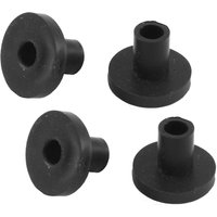 Black Rubber Spacer Sleeves 6x14mm Pack of 10