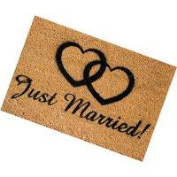 Front Doormat 60x40cm Just Married