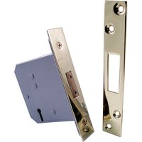 Qube 76mm 3 Lever Interior Deadlock Brass