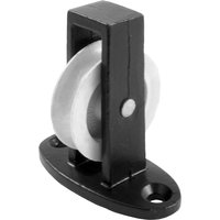 1.5in Single Upright Pulley Black Japanned