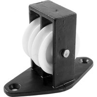 1.5in Twin Upright Pulley Black Japanned
