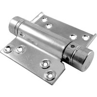 One Way Action Spring Hinges Zinc Plated In Pairs