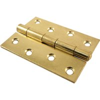Heavy Duty Door Hinges Electro Brass Plated 100mm In Pairs