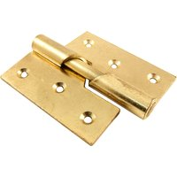 Rising Door Hinges Electro Brass Plated Right Hand 76mm In Pairs