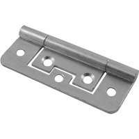 No Recess Flush Hinge Bright Zinc Plated In Pairs
