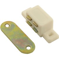 Small White Plastic Magnetic Catch