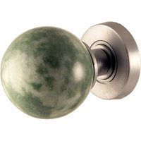 Jade Coloured Marble Door Knobs 60mm