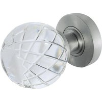 Palma Clear Glass Round Door Knobs 58mm