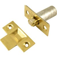 Mortice Fixing Adjustable Roller Catch Brass Plated
