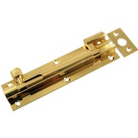Brass Door Bolt Necked 152 x 38mm