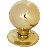 Brass Ball Style Front Door Knob 3in