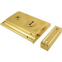 Brass Rimlock 152x100mm