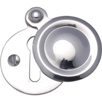 Heritage V1020 Chrome Covered Keyhole Cover 33mm