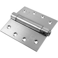 Stainless Steel One Way Action Spring Hinge 102x102x3mm in Pairs