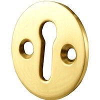 Brass Round Open Escutcheon 32mm