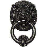 Black Antique Ironwork Lion Front Door Knocker 896
