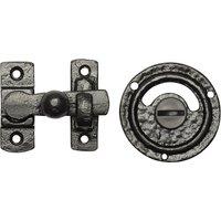 Black Antique Ironwork Bathroom Door Bolt 1150