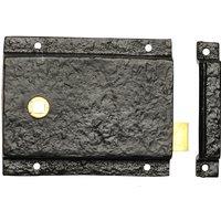 Black Antique Ironwork Rim Latch Set 1204