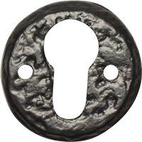 Black Antique Ironwork EURO PROFILE Keyhole Cover 1401