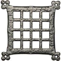 Black Antique Ironwork Square Door Grille 171x171mm 2175