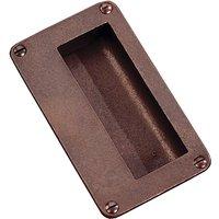 Traditionally Cast Bronze Flush Pull Handle 114x64mm