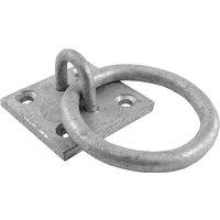 Spelter Galvanised Ring on Plate 50x50mm