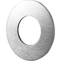 Matt Chrome Round Repair Ring for Door Handles or Cylinders