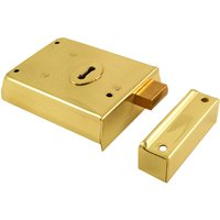 Brassed Rim Deadlock 100x75mm