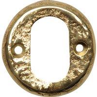 Antique Cast Brass Range Oval Profile Cylinder Cover 1402