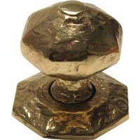 Antique Cast Brass Range Front Door Knob 70mm 3064