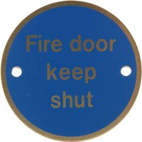 Stainless Steel 76mm Fire Door Keep Shut Door Sign
