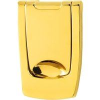 Bright Brass Contemporary Door Knocker Without Viewer
