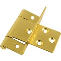 Offset Hinges Electro Brassed in Pairs