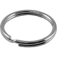 Split Key Rings Nickel Plated