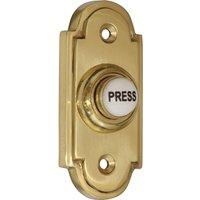 Brass Door Bell 76x33mm Ceramic Press