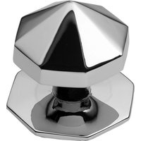 Polished Chrome Carousel Front Door Knob 67mm