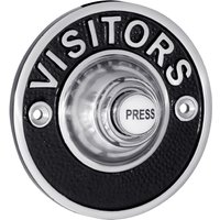 Chrome/Black 76mm Visitors Door Bell