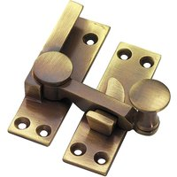 Brass Antiqued Finish Quadrant Fastener 67mm