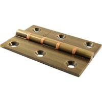 Brass Antiqued Finish Hinge 76x50mm In Pairs
