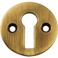 Brass Antiqued Finish Open Keyhole Cover 32mm
