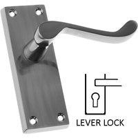 Polished Pewter Scroll Lock Door Handles