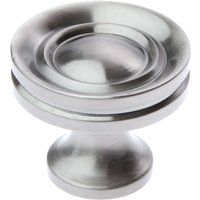 Polished Pewter Stepped Cupboard Knob