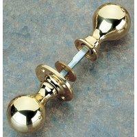 Brass Unlacquered Rim Knob Set 48mm